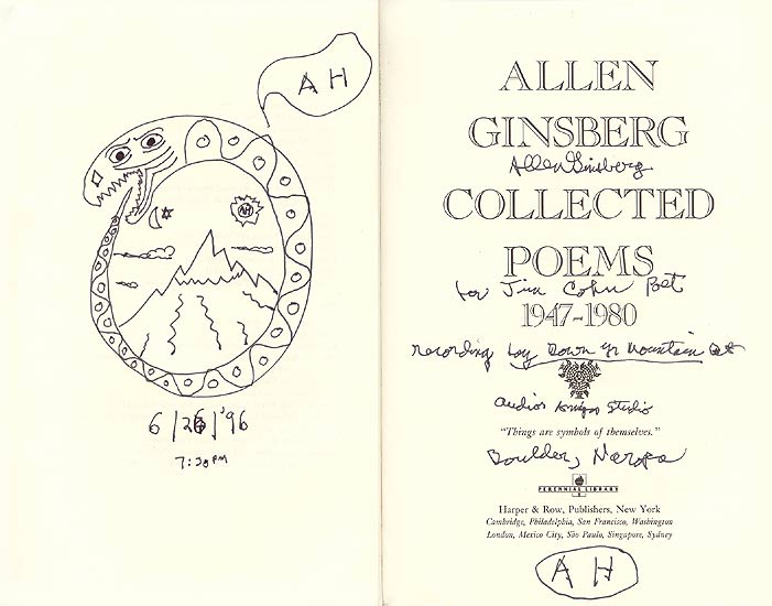 Inscriptions 1 Allen Ginsberg Signs His Collected Poems